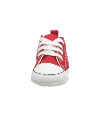 Converse All Star First Star Hi Infant Baby Crib Trainer Shoes Red New Born
