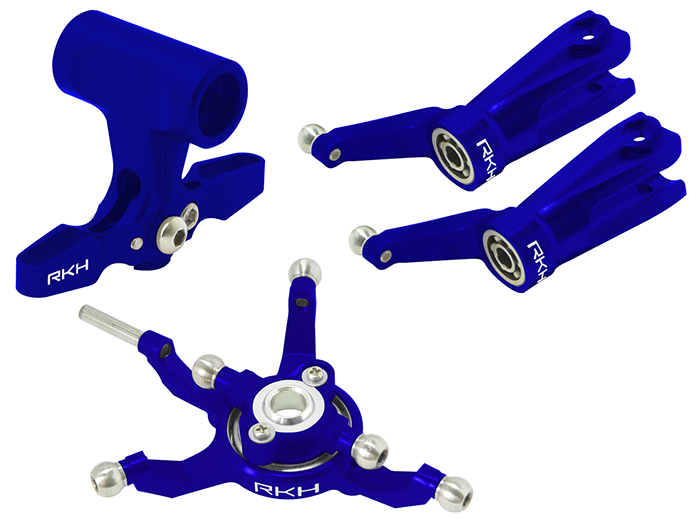 Rakon Blade 230S   250CFX CNC Head Combo 02 (blu) - 230S012-B