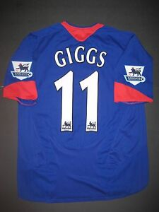 246555b9f 2005-2006 Nike Manchester United Ryan Giggs Away Jersey Shirt Kit ...