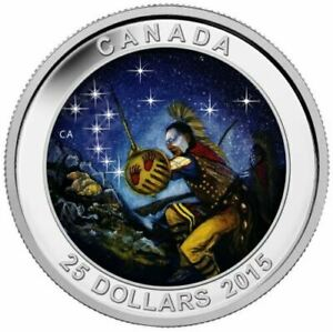 2015-Canada-Star-Charts-25-Fine-Silver-The-Wounded-Bear