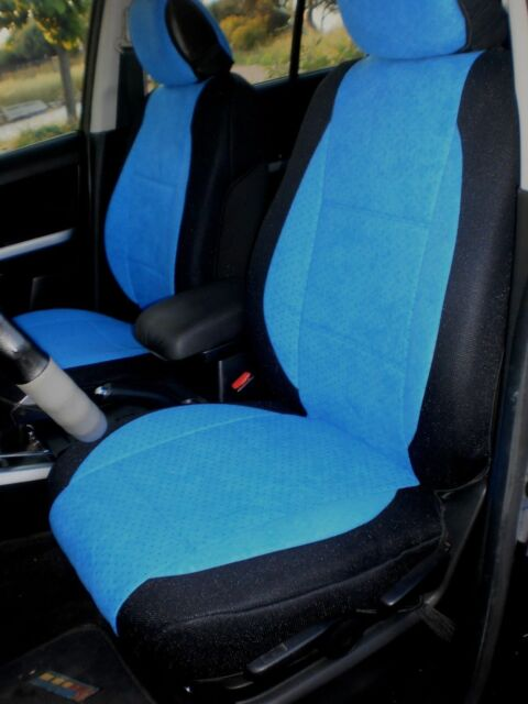 mix VELOUR and SYNTHETIC TWO FRONT CUSTOM CAR SEAT COVERS - SELECT TOYOTA MODEL