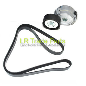 LAND-ROVER-FREELANDER-2-2-2-TD4-NEW-FAN-BELT-TENSIONER-PULLEY-amp-BELT-2006-2014