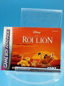 jeu-video-notice-BE-nintendo-gameboy-advance-FRA-le-roi-lion