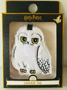 Harry-Potter-Eule-Hedwig-Pluesch-Kofferanhaenger-Gepaeckanhaenger-Adressschild-Reise