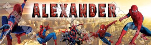 Personalized Customized Spiderman banner poster with your name High Glossy