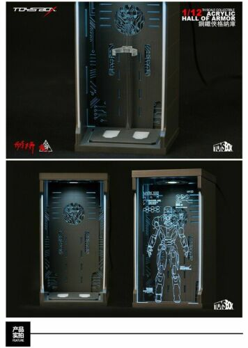 TOYS-BOX 1//12 Comicave SHF Iron Man MK25 Figure Model Dust-proof Display Box