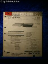 Sony Service Manual CDX R88/ R66 CD Player (#0054)