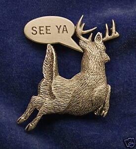 Empire Pewter Deer Hunter Pin