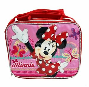 Disney Princess Hot Pink Lunch Box Lunch Bag and Adjustable Strap Insulated