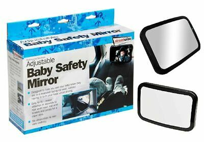 Baby New Extra Large Baby Child Safety Wide View Rear Seat Mirror Clip On