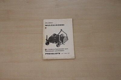 163206) Clemens Willibald Mulch-kombi - Preise & Extras - Prospekt 03/1971