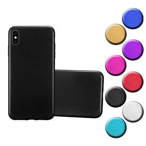 Custodia-Cover-Silicone-per-Apple-iPhone-XS-MAX-TPU-Case-Effetto-Acciaio