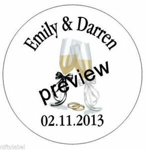 OPTIONAL SIZES HERSHEY KISS STICKER LABELS WEDDING GLASSES DESIGN #15