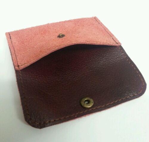 Carta di credito Vera Pelle Scamosciata Custodia//portafoglio Business Card Holder con borchie donna.