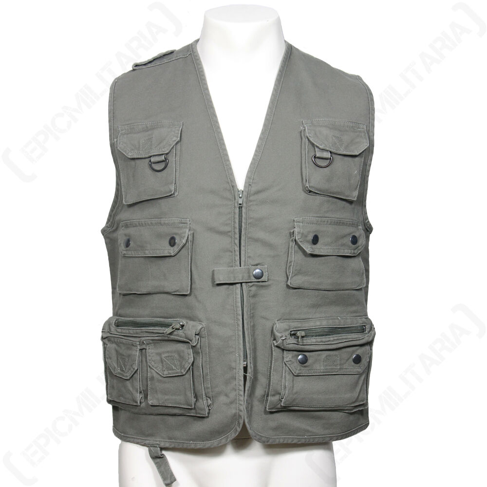 HUNTING AND FISHING - MOLESKN VEST - FISHING OLIVE - Waistcoat Camouflage Shooting Outdoor 0f5e61