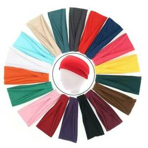 Wide-Plain-Stretchy-Fabric-Headband-Sport-Headband-Hairband-Hair-Bandeau-7cm