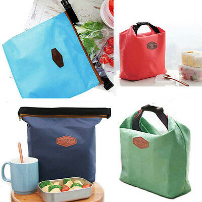 CHIC THERMAL COOLER INSULATED WATERPROOF LUNCH CARRY STORAGE PICNIC BAG POUCH NW
