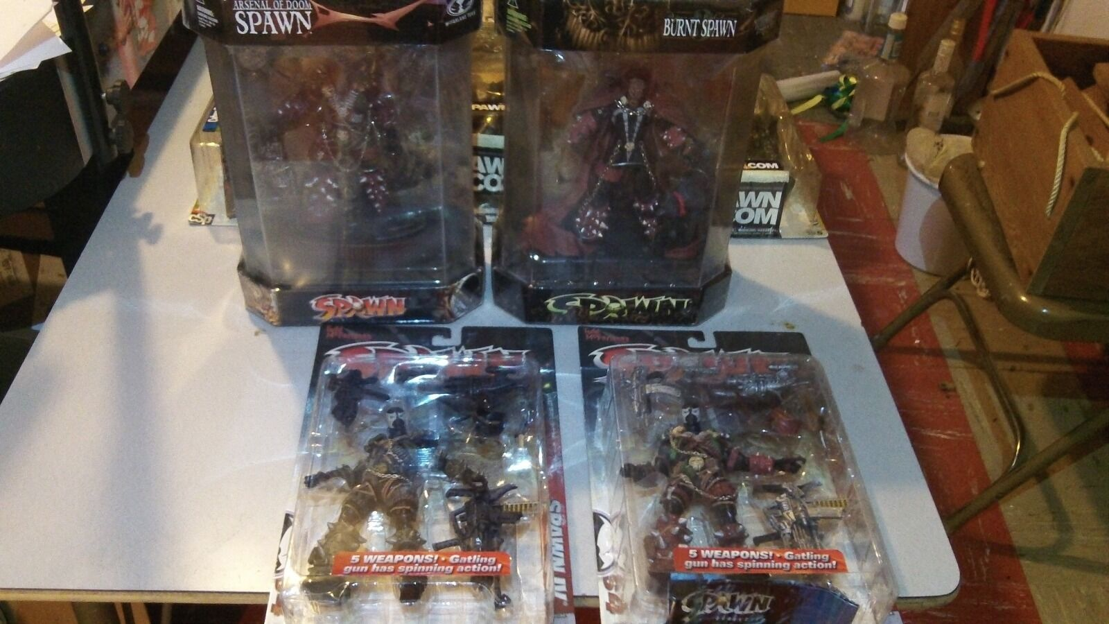 Spawn McFarlane Toys Burnt Arsenal of Doom Spawn IV series 12 LOT NEW