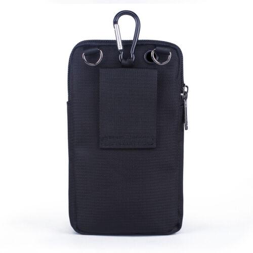 Men Nylon Fanny Belt Waist Pack Mini Crossbody Hook Bag Cell Phone Case Cover