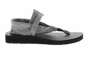 Details about Skechers Meditation Studio Kicks Sandals Womens Sz 10 Gray black Yoga Foam Shoes