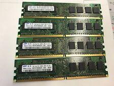 4GB PC5300 DDR2 4x1GB PC2-53000U 800MHz Non Ecc 240 pin Desktop Memory Ram