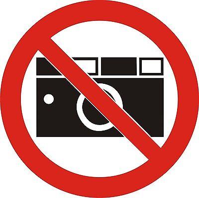 Aufkleber Verbot  Warnaufkleber Fotografieren verboten  Nr.Sign-1273