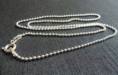 Sterling silver ball chain bead chain finished necklace jewelry finding 16 inch
