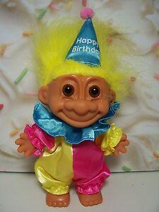 """HAPPY BIRTHDAY CLOWN - 5"""" Russ Troll Doll - NEW IN ORIGINAL WRAPPER"""