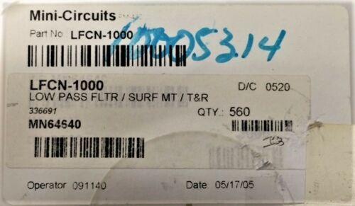 LFCN-1000 MINI CIRCUITS Ceramic Low Pass Filter  10 PIECES **FREE SHIPPING**