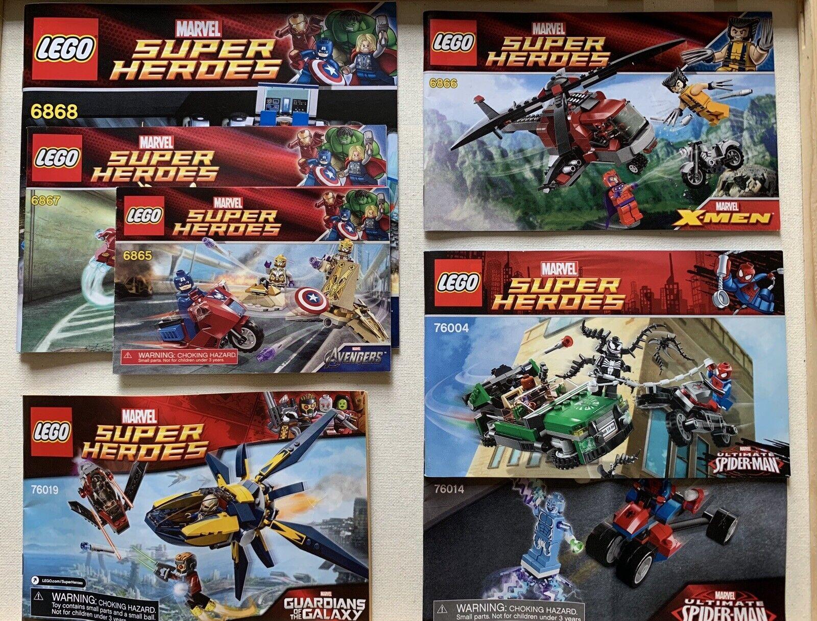 Lego Marvel Avengers 2012  Lot No Minifigs 6865 6866 6867 6868 76004 76014 76019  Spedizione gratuita per tutti gli ordini