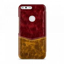 TETDED Premium Leather Case for Google Pixel XL - Caen (Venus:Red/Yw) - SHIPS CA