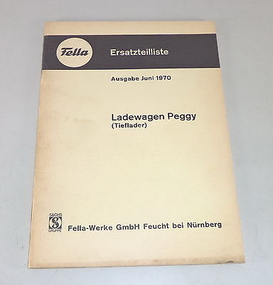 Parts Catalog Fella Loading Wagon Low Loader Peggy Stand 06/1970 Motors
