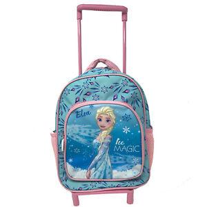 metà fuori 4b280 bfe9b Details about FROZEN ANNA E ELSA zaino trolley asilo tempo libero 2 tasche  32x22x10,5 cm