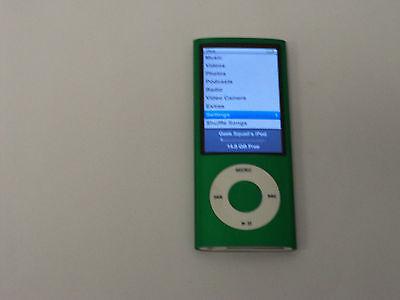 Apple iPod Nano A1320 5th Gen, Green, 16GB MP3 Player, w/ Camera