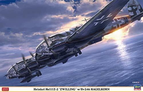 liquidación hasta el 70% Hasegawa Heinkel He111Z-0.6mZwilling' con   Bv246 Hagelkorn Maqueta de de de Plástico  Compra calidad 100% autentica