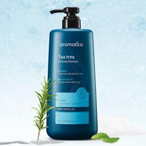 Jumbo 900ml Aromatica Tea Tree Shampoo With Tracking Purify Oily