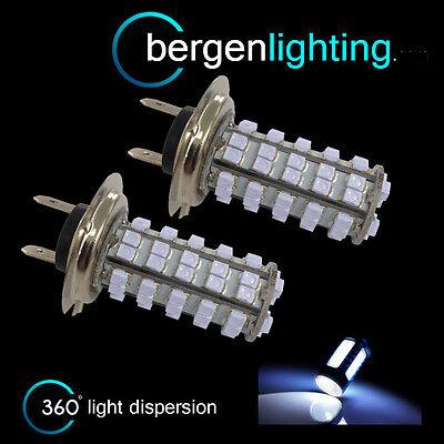 2 x H7 weiß 60 LED Front Haupt Fernlicht Glühbirnen Hohe Energie Xenon mb500301