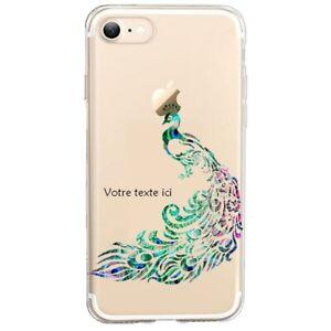 Coque Iphone 7 PLUS 8 PLUS paon plume personnalisee