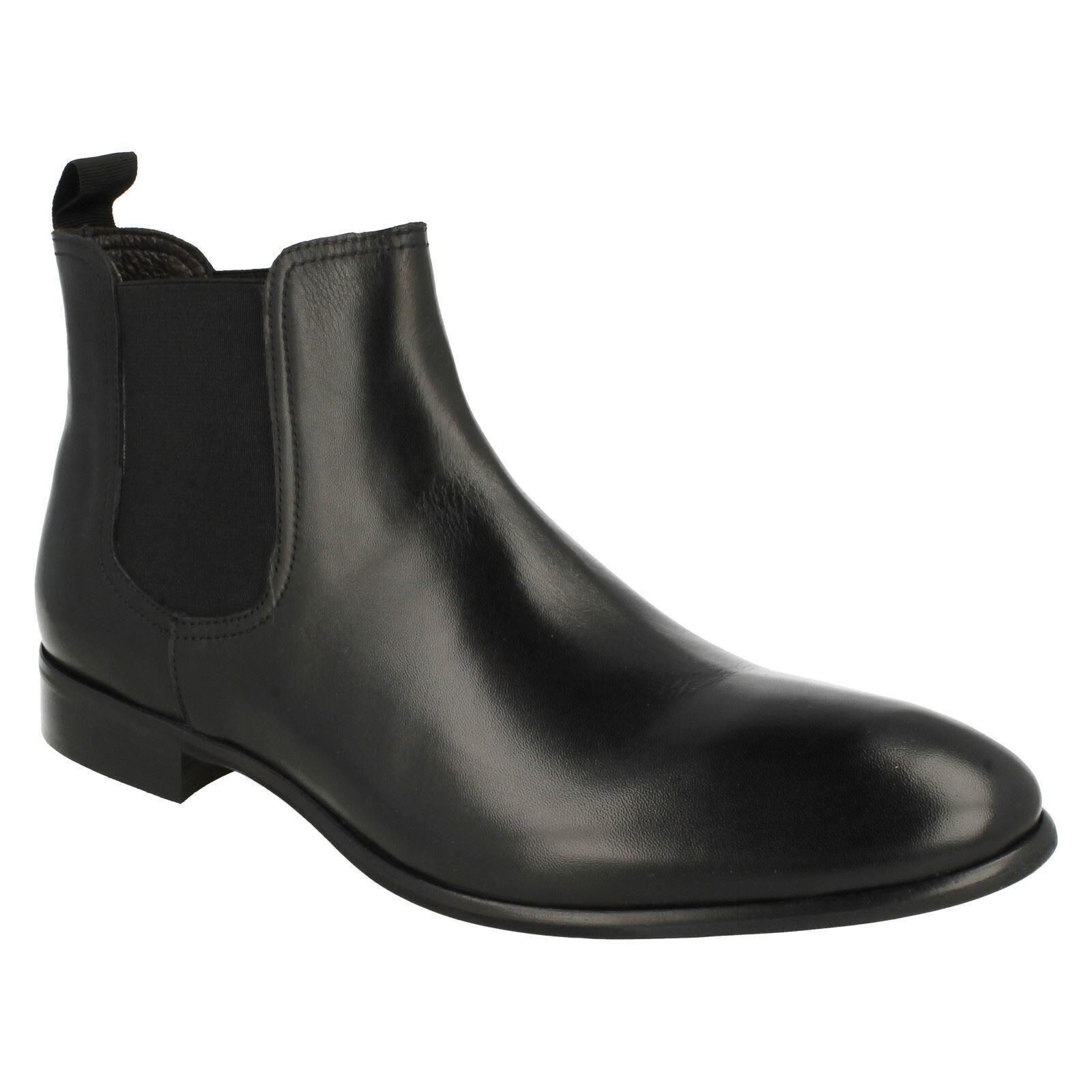MENS MORENA GABBRIELLI LEATHER SMART FORMAL PULL ON ANKLE Stiefel FA-D1696