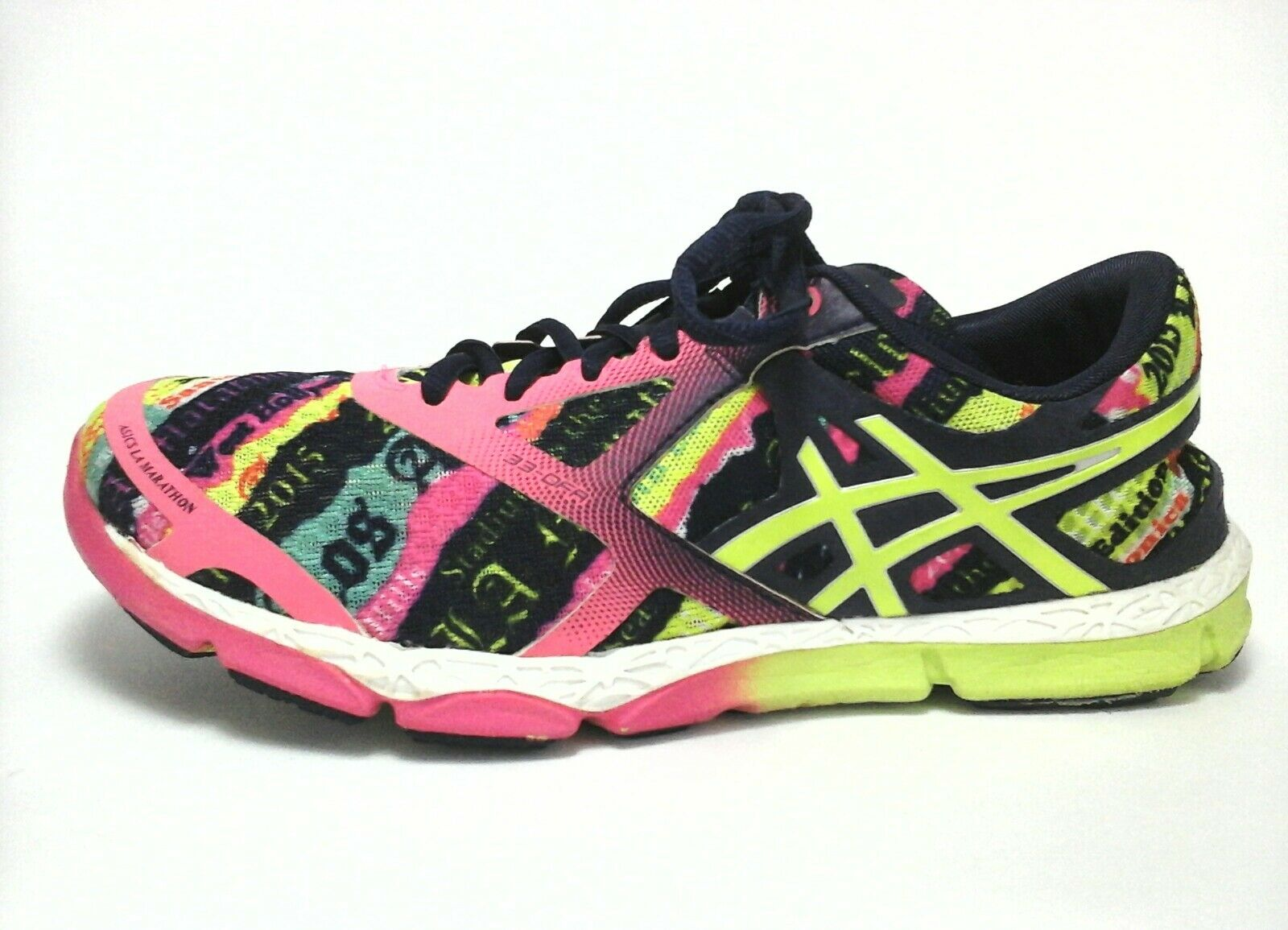 ASICS Sneakers LA MARATHON 2015 Pink Running Shoes Women's US 8/8.5 Price reduction Comfortable and good-looking