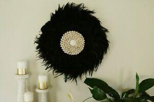 New-Juju-design-wall-decor-item-tribal-boho-style-handcrafted-black-50cm