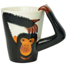 Cheeky Monkey Chimp Handle Tea / Ceramic Mug Gift