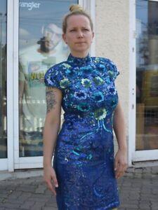 Vera Mont Damen Paillettenkleid Perlen Glitzer True Vintage 90s Women S Dress Ebay