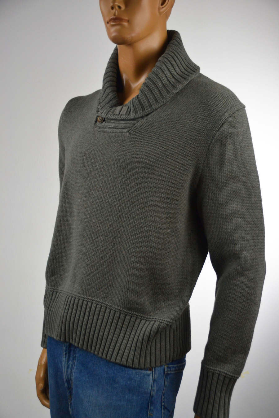 Ralph Lauren  Herren Shawl Collar grau Heather Sweater- Small- NWT