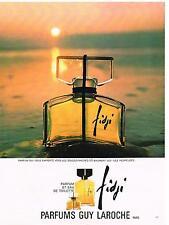 PUBLICITE  1969   GUY LAROCHE parfum FIDJI