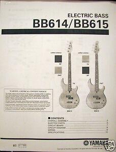 yamaha bb614 bb615 4 and 5 string bass guitar service manual and rh ebay com Bass Guitar Yamaha R Yamaha Bass Guitar Design