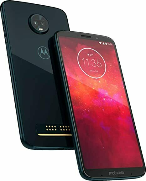 New Motorola Moto Z3 Play XT1929-17 64GB Black AT&T T-Mobile Verizon Unlocked