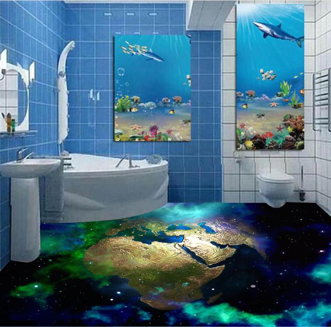 3D Cosmic Earth 634 Floor WallPaper Murals Wall Print 5D AJ WALLPAPER AU Lemon
