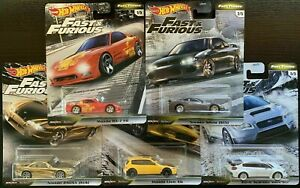 Hot-Wheels-2020-FAST-amp-FURIOUS-Premium-FAST-TUNERS-F-Set-of-5-IMPORTS-1-64-Scale