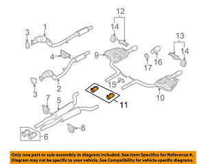 image is loading audi-oem-05-08-a6-quattro-exhaust-pre-